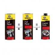 2vnt x Bardahl Full Metal - Trintį mažinantis tepalo priedas 400ml + Engine Flush