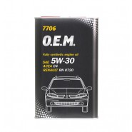 MANNOL 7706 O.E.M. for Renault Nissan 5W-30 5L