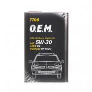MANNOL 7706 O.E.M. for Renault Nissan 5W-30 5L